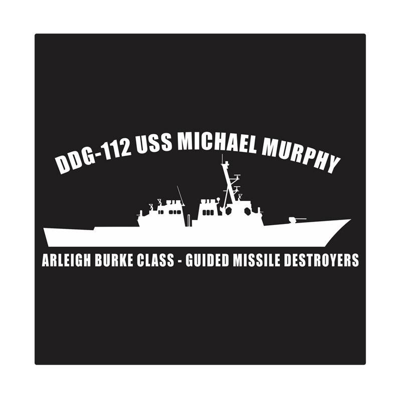 Kyle USS MIchael Murphy Arleigh Burke Class Cutting Sticker