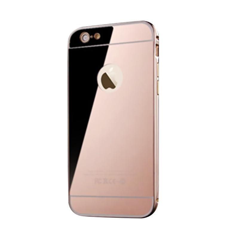 Bumper Mirror Sliding Casing for iPhone 5 - Rose Gold