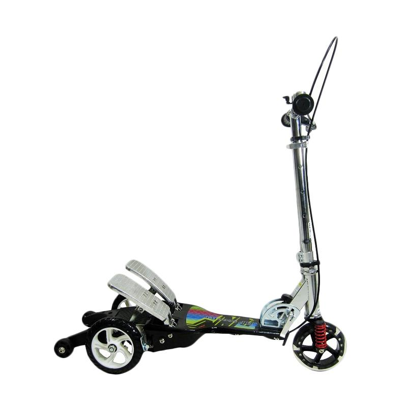 harga Happy Twin Tail Otoped Scooter Skuter Dua Pedal - Hitam Blibli.com