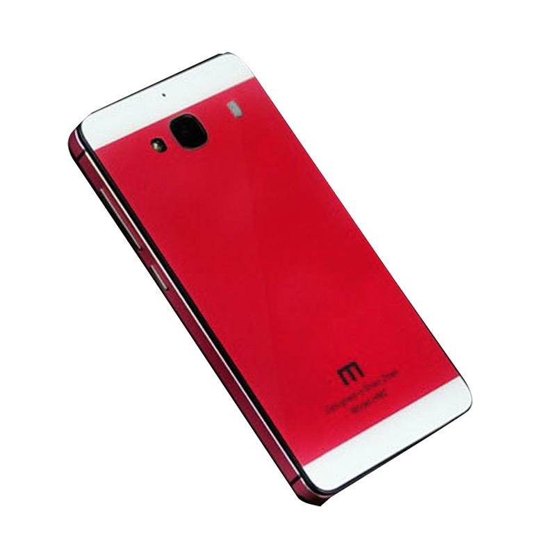Jagostu Back Door Glass Hardcase Casing for Xiaomi Redmi 2 Prime Red .