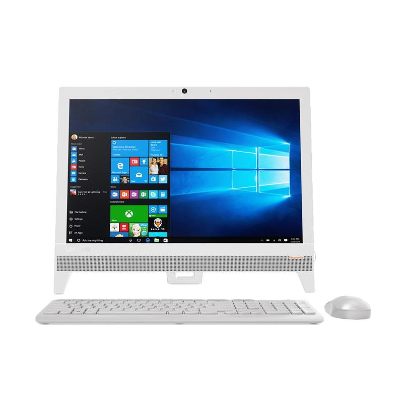 "Lenovo AIO 310 PC - Putih [19.5"" FULL HD/ AMD 9000/ 4GB DDR4/ 500GB/DVDRW RAMBO/ CR/WIFI/BT/ Win10] ---GARANSI RESMI"