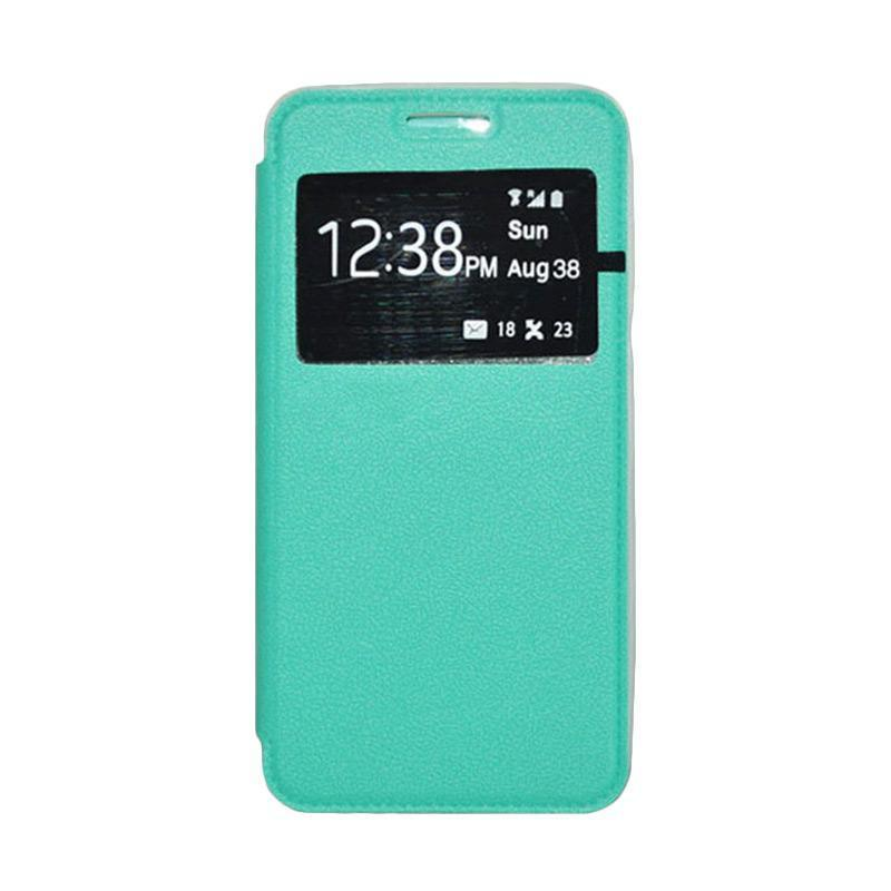 OEM Book Cover Leather Casing for Samsung Galaxy Alpha - Green