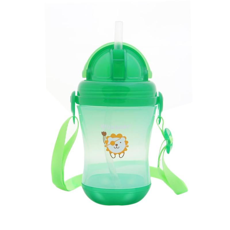 US Baby Sport Straw Bottle Botol Minum Anak - Hijau [310ml]