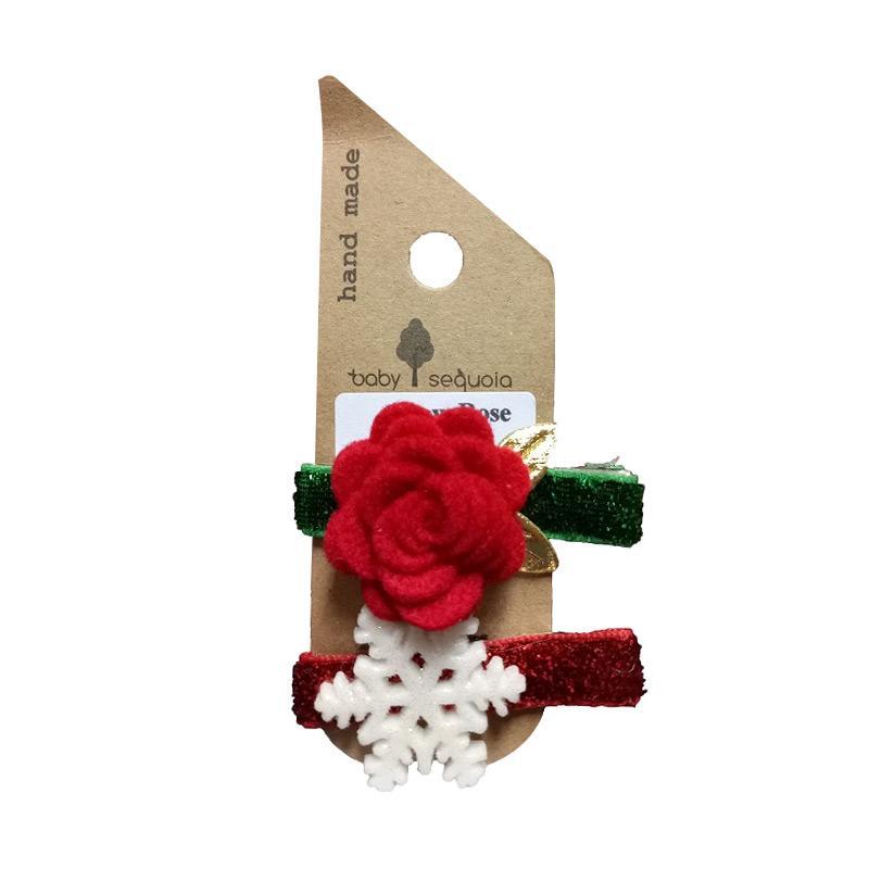 Baby Sequoia Snow Rose Clip Penjepit Rambut [2 pcs]