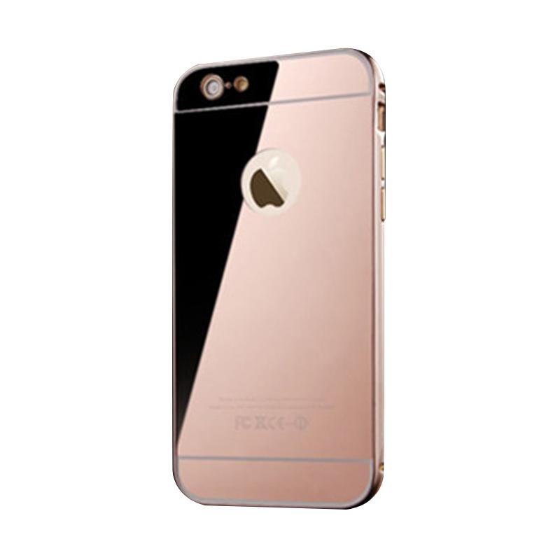 Bumper Mirror Sliding Casing for iPhone 6 - Rose Gold