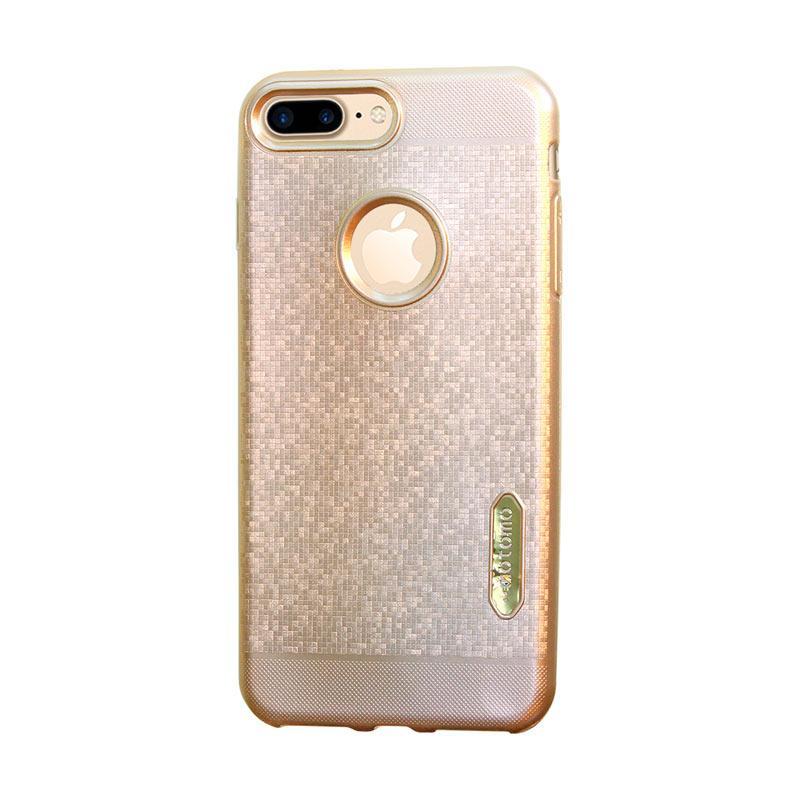 Motomo Matrix Softcase Casing for iPhone 7 Plus - Gold