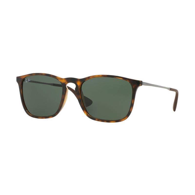 Ray-Ban 710-71 Chris F RB4187F Green Sunglasses - Light Havana [Size 54]