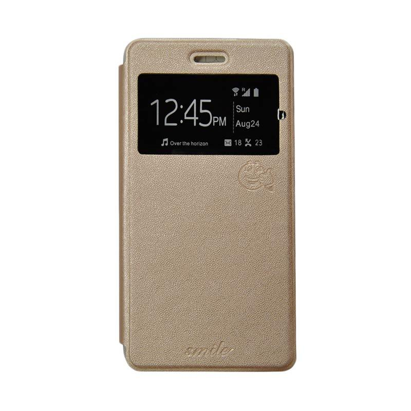 SMILE Flip Cover Casing for Samsung Galaxy Grand Neo - Gold
