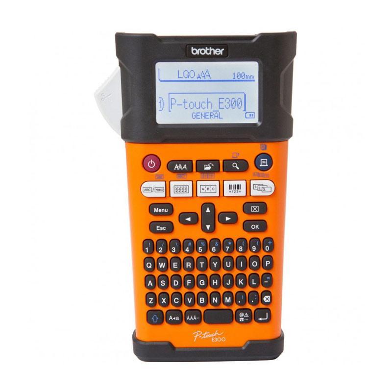 Brother PT-E300VP Electrician Printer Label - Orange