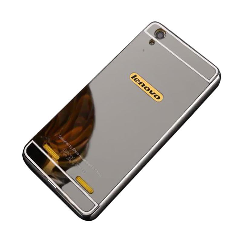 Bumper Mirror Sliding Casing for Lenovo A7000 - Silver