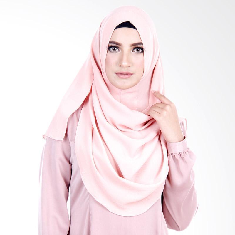 Cantik Kerudung Felicia Bubble Hijab - Dusty Pink