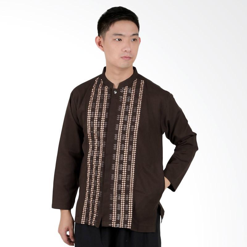 harga Elfs Shop 1F17046 Baju Muslim Koko Panjang Pria - Coklat Tua Blibli.com