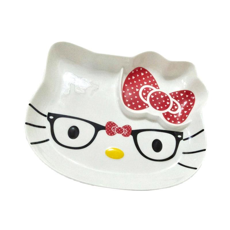 Hello Kitty Glasses HK Piring - White Red Yellow