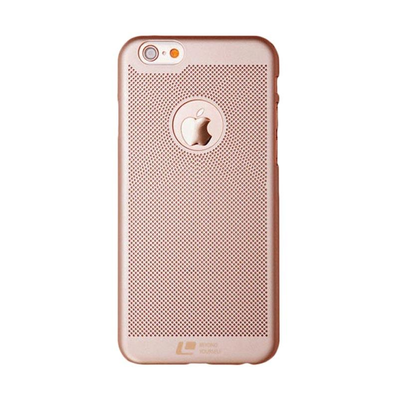 Loopee Woven Hardcase Casing for iPhone 7 Plus - Rose Gold
