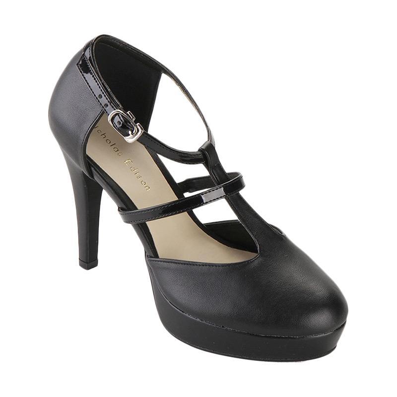 harga NICHOLAS EDISON Feodora Heel Sepatu Wanita - Black Blibli.com