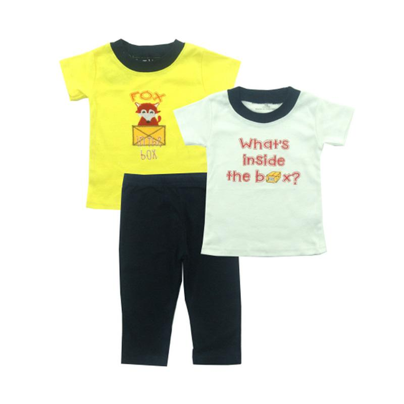 Bearhug 3 Pieces Racon Fox Set Bayi Laki-laki - Kuning [12-24 Month]