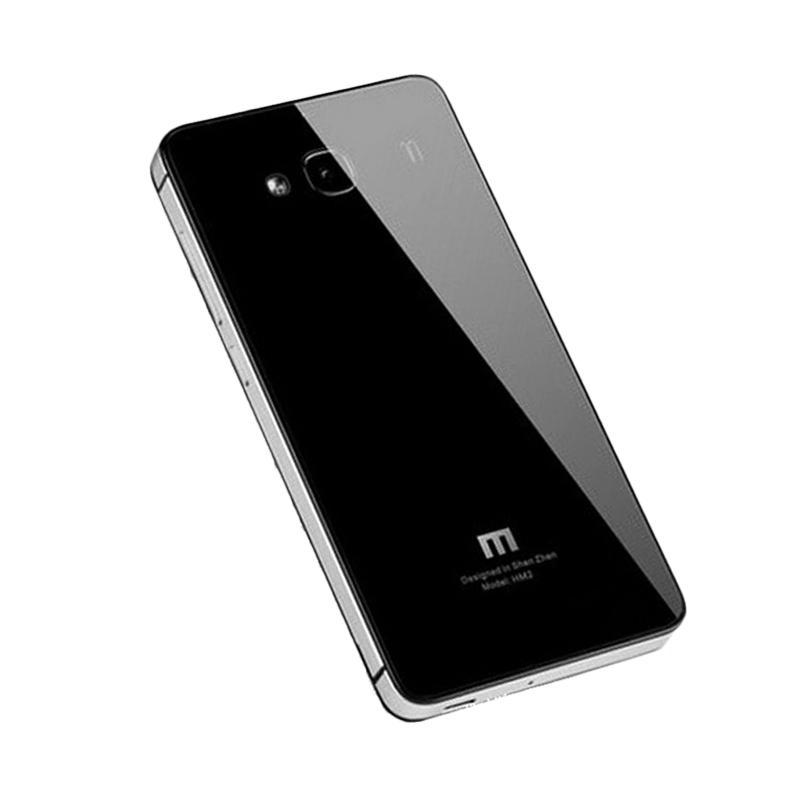 harga Jagostu Back Door Glass Hardcase Casing for Xiaomi Redmi 2 - Black Grey Blibli.