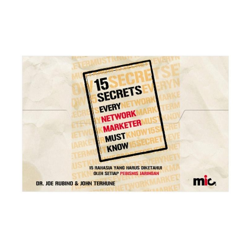 MIC Publishing 15 Secrets Every Network Marketer Must Know by Dr. Joe Roebino Buku Marketing & Sales