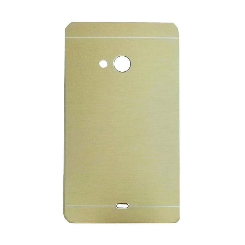Motomo Metal Hardcase Casing for Microsoft Lumia 540 - Gold