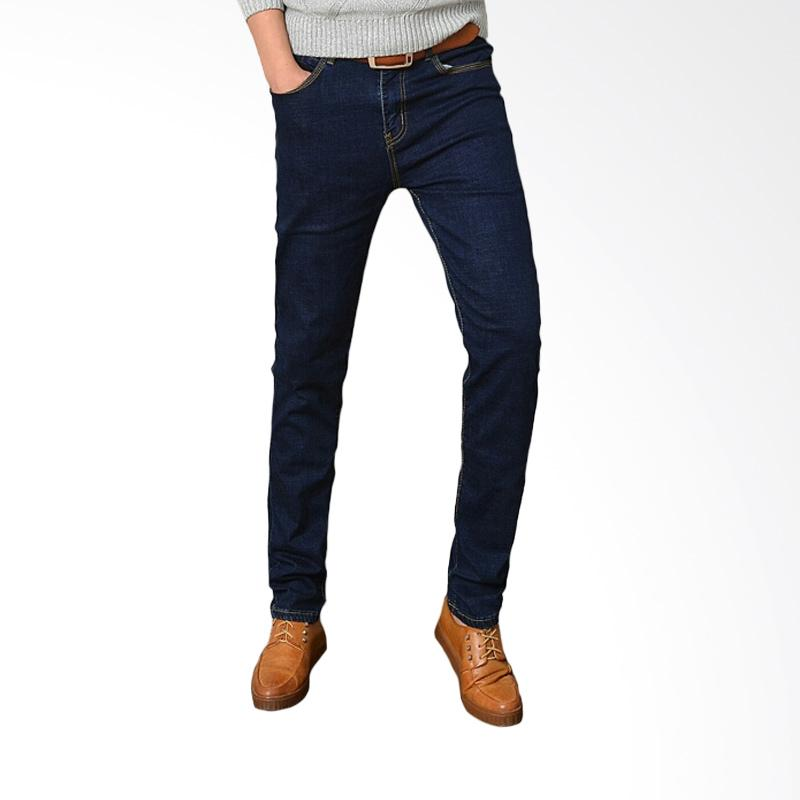Underpego Jeans Skinny Nakent Celana Pria - Navy Blue