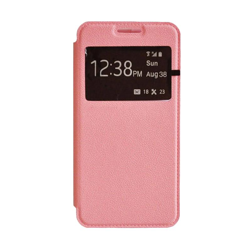 OEM Leather Book Cover Casing for Samsung Galaxy Note 4 - Pink