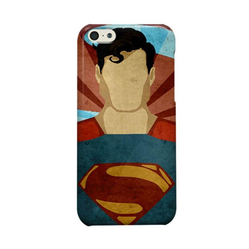 Indocustomcase Vintage Superman Cover Casing for  Apple iPhone 5C