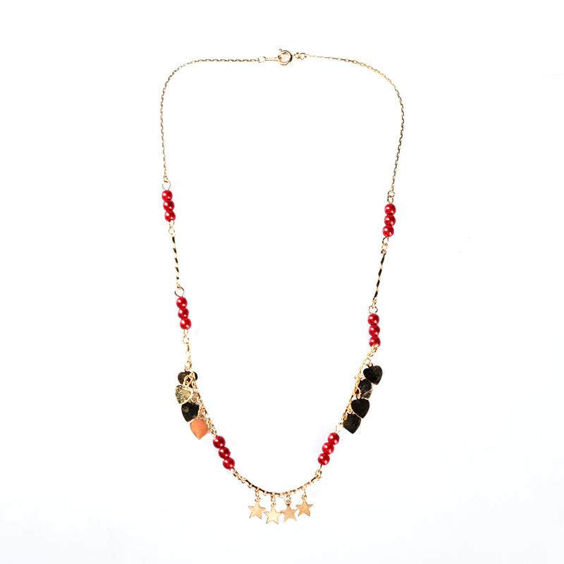 1901 Jewelry KL.929.HR67R Kalung Hati 929 - Merah Gold [Lapis emas 24K]
