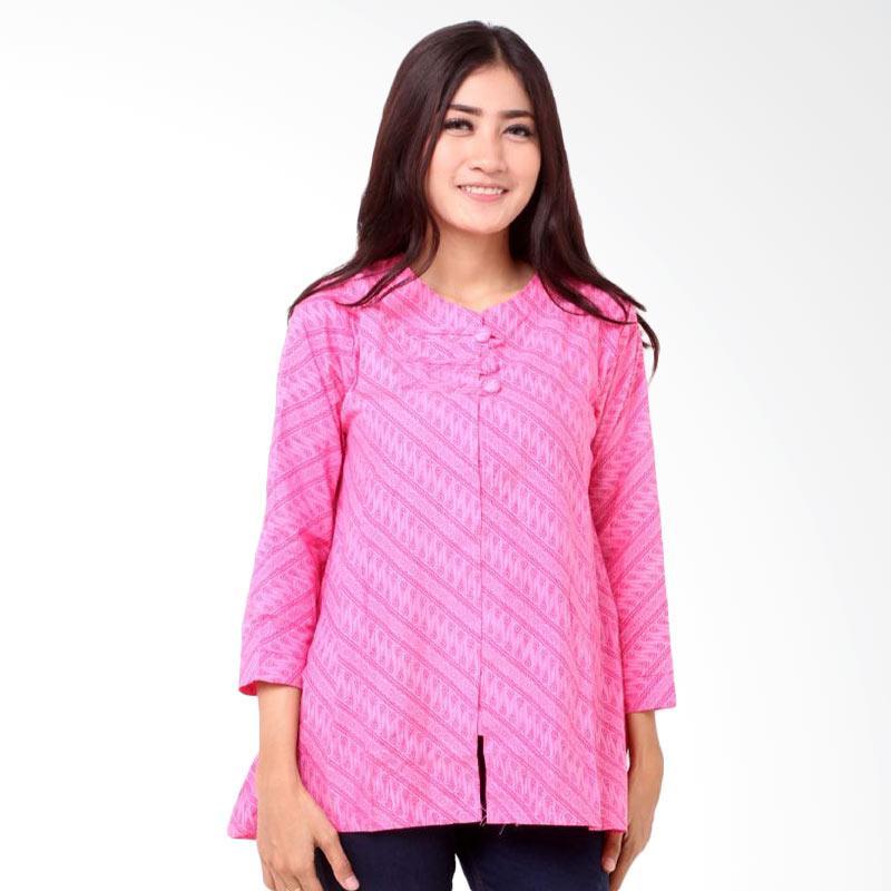 harga Batik Distro BA8013 Kancing Tali A Line Blus Wanita - Pink Blibli.com