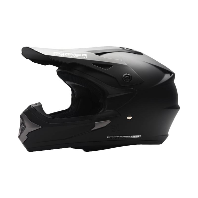 harga Cargloss Former Moto Cross Helm Full Face - Deep Black SG Blibli.com