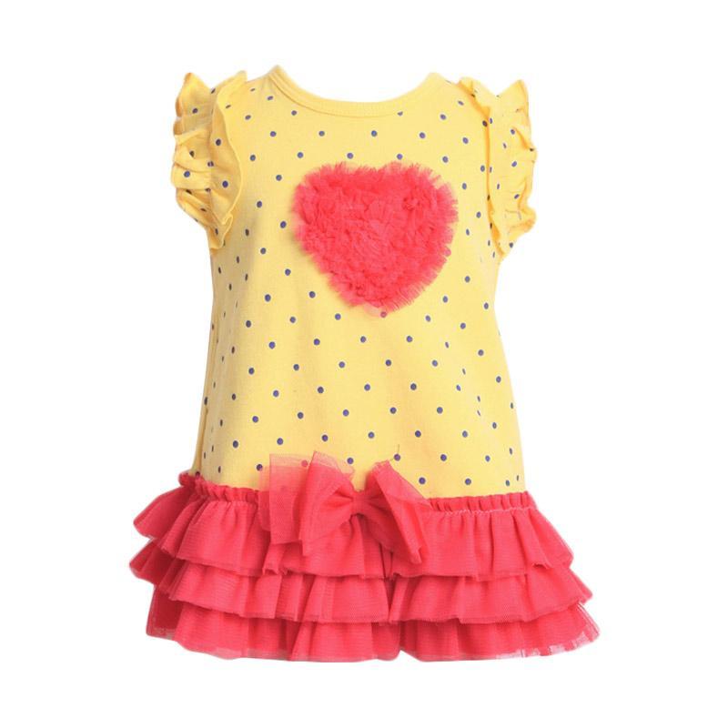 Chloebaby Shop F906 Dress Love Tutu - Yellow