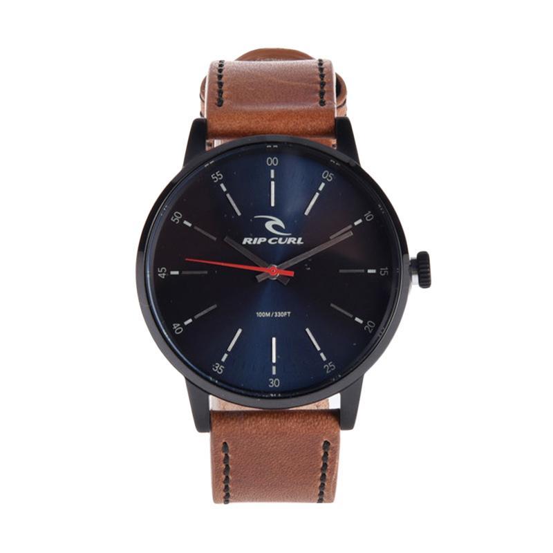Rip Curl Drake Midnight Leather Jam Tangan Pria - Navy A2908 49