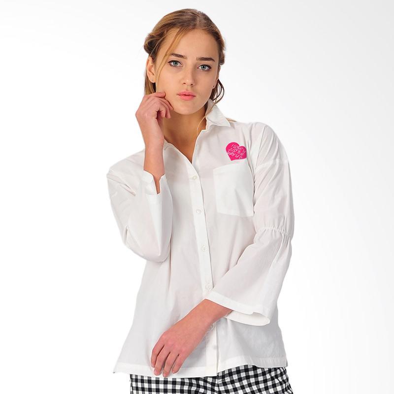 SJO & SIMPAPLY Siena Embro Women's Shirt - White