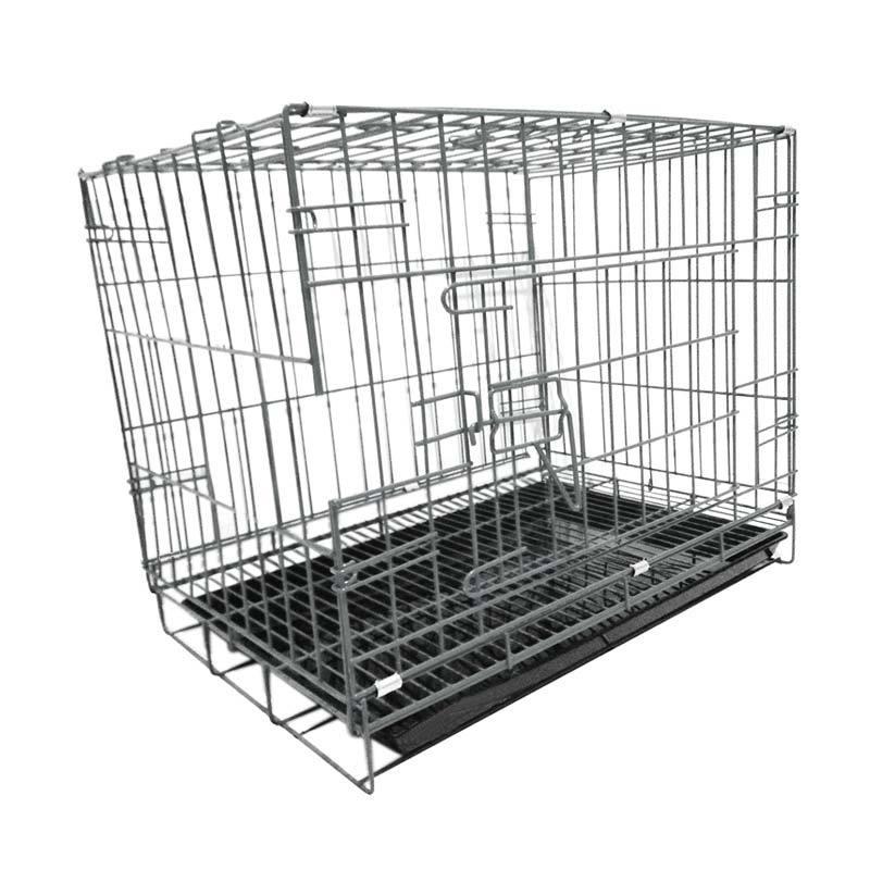 harga WYD K05 Besi Lipat Tebal p60 Kandang Kucing dan Kandang Anjing - Hitam Blibli.com