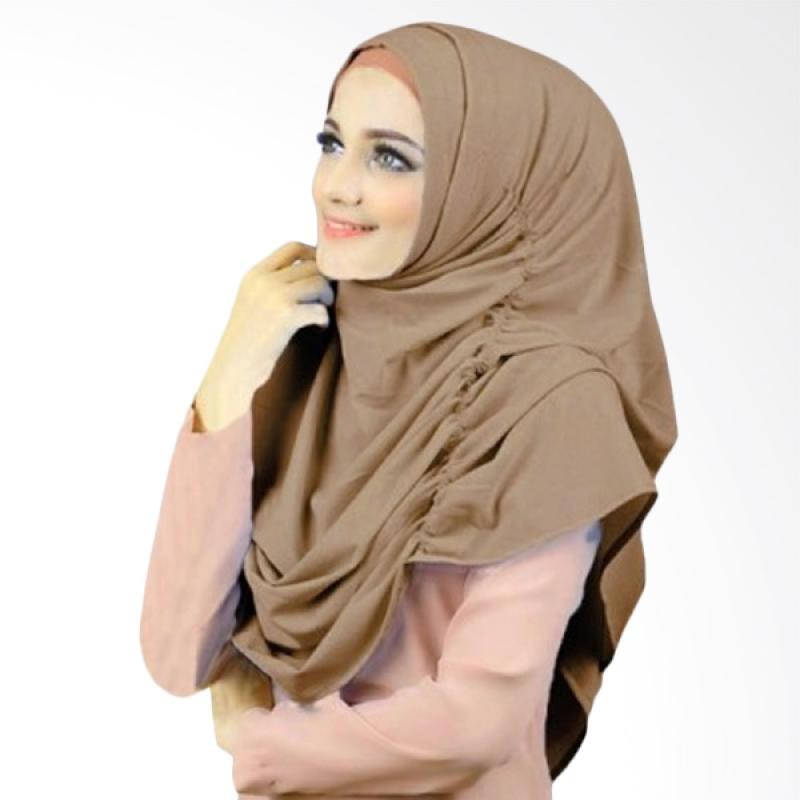 Kus Group Hijab Narinda Kerudung Syar'I - Coklat Muda