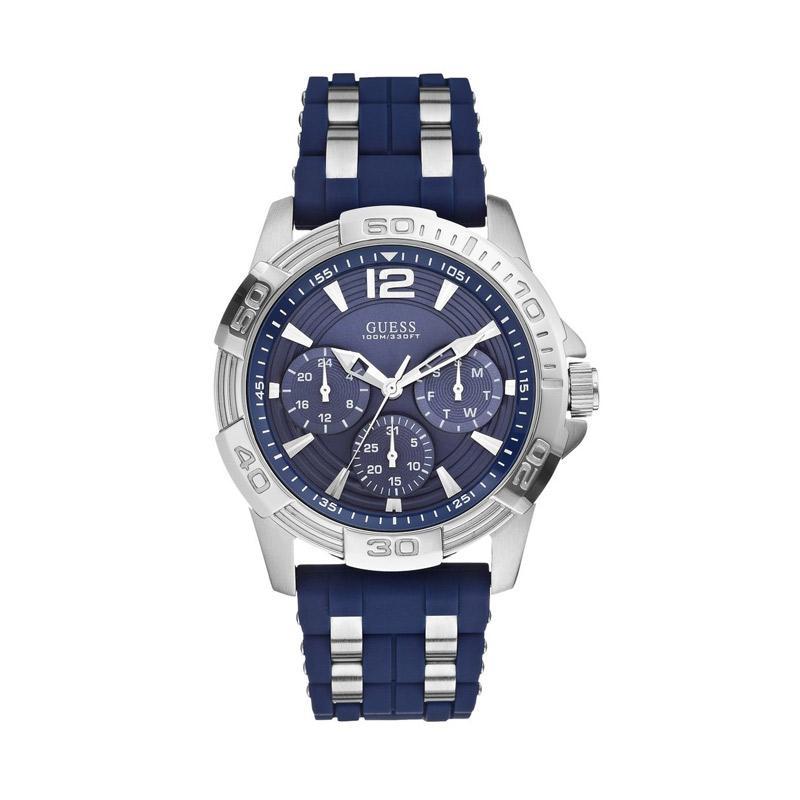 Guess W0366G2 Jam Tangan Pria - Blue Silver