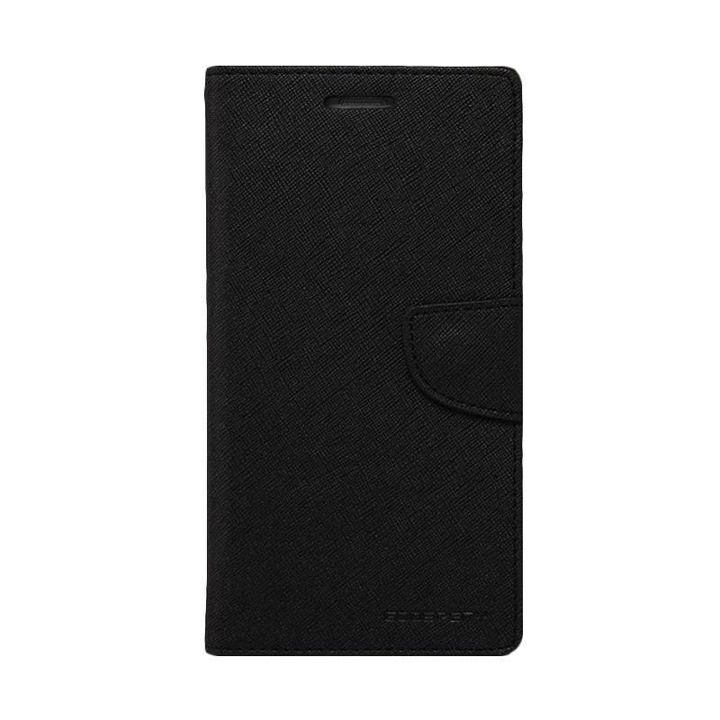 Mercury Fancy Diary Casing for Xiaomi Mi4i - Hitam Hitam