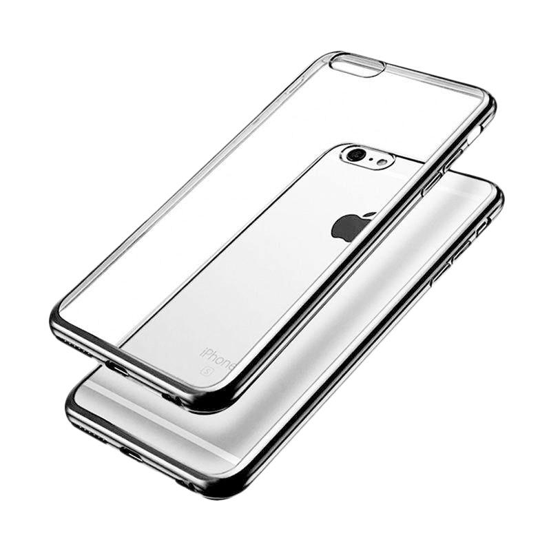 OEM Shining Chrome Softcase Casing for iPhone 6G 4.7 Inch - Silver