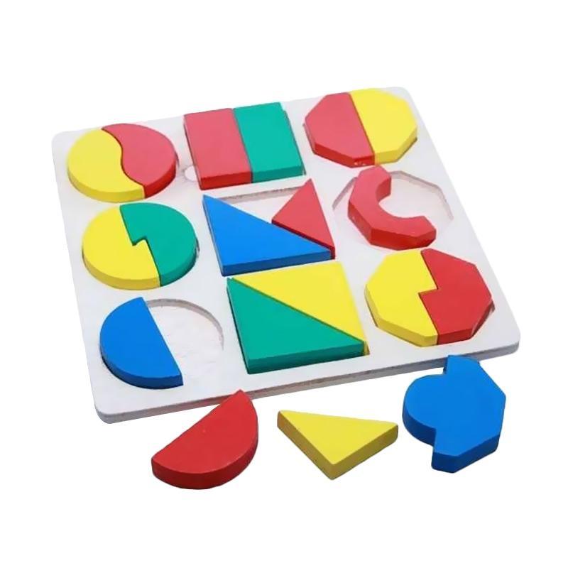 Atham Toys Geometri SMGB Timbul Puzzle Mainan Kayu Edukatif