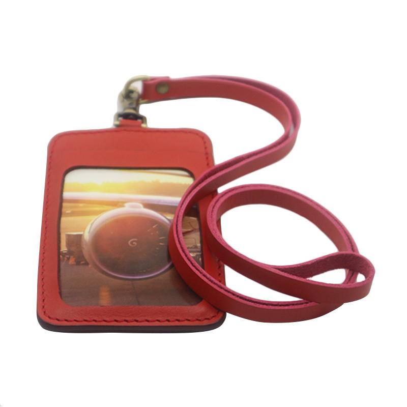 harga Blankenheim Original Kulit Pull Up ID Card Holder - Red Blibli.com