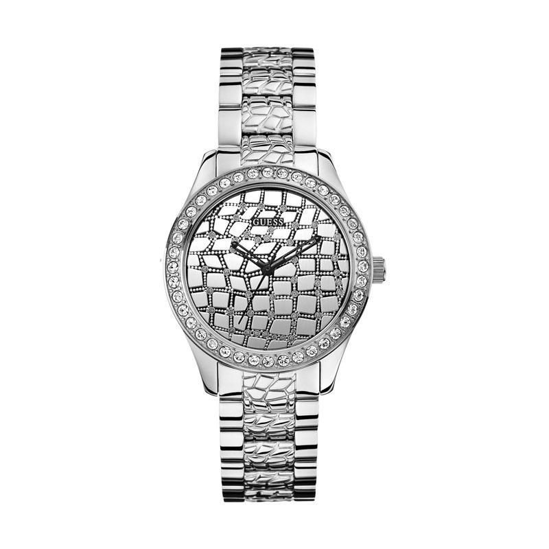 GUESS W0236L1 Crystal Stainless Jam Tangan Wanita - Silver