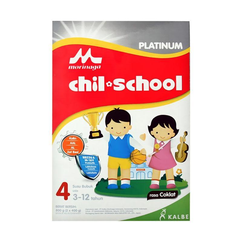 Morinaga Chil School Platinum Susu Formula - Coklat [800 g]