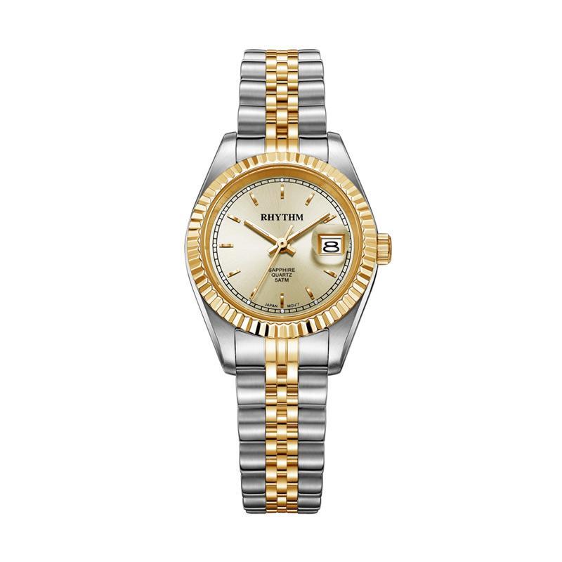 Rhythm RQ1612S 10 Stainless Jam Tangan Wanita - Gold Silver
