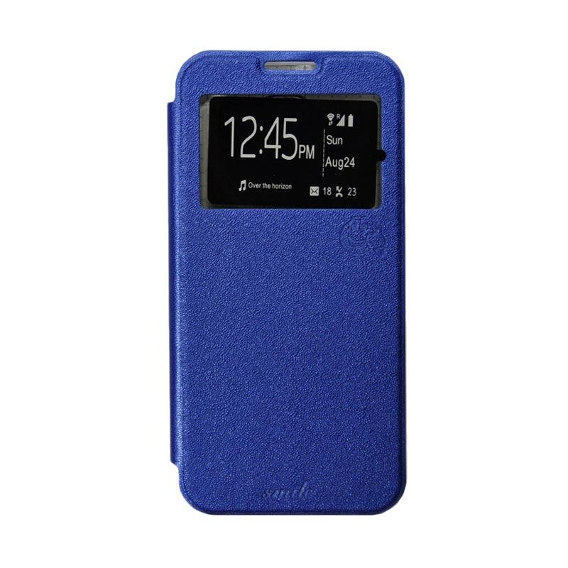 Smile Flip Cover Casing for Asus Zenfone Go mini ZC451TG - Biru Tua