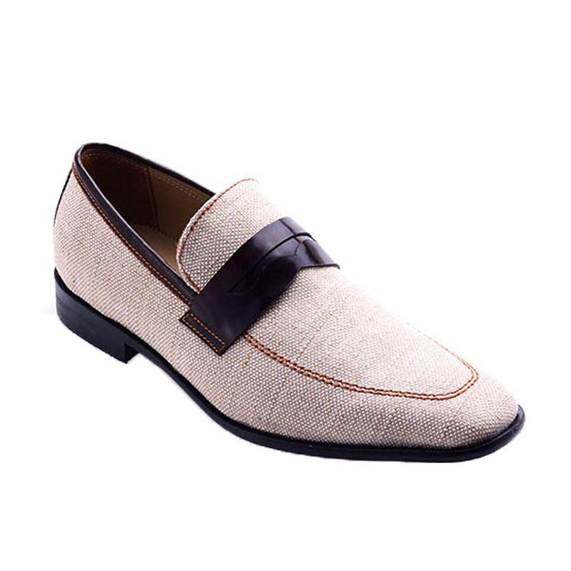 Ftale Footwear Danish Mens Shoes Sepatu Pria - Brown Cream