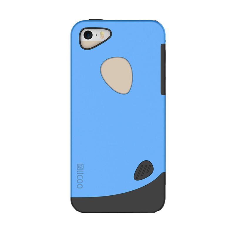 Slicoo Frosted Back Side Hardcase Casing for Apple Iphone 6 - Biru