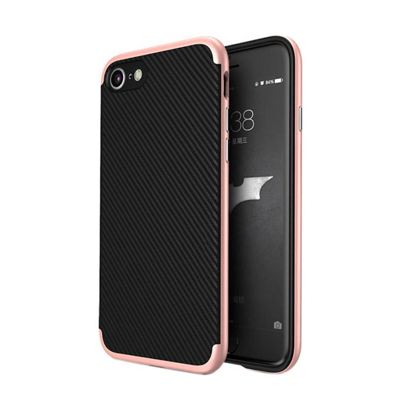 Likgus Tough Shield Carbon Hybrid Casing for Iphone 7 - Rose Gold
