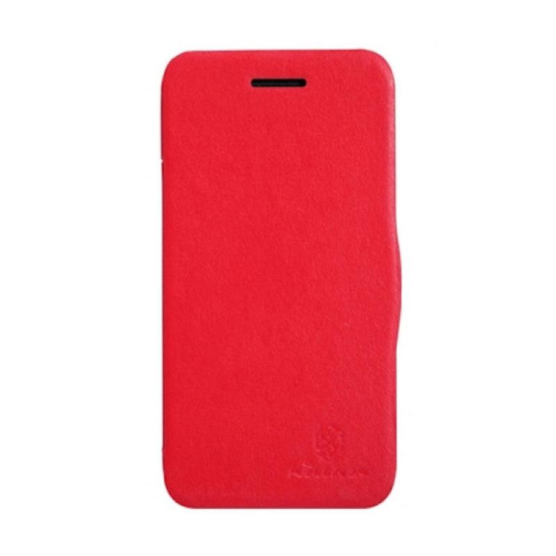 Nillkin V-series Flip Cover Casing for BlackBerry Q5 - Red