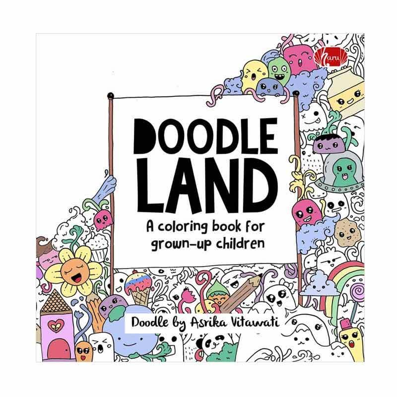 Haru Doodle Land Coloring Book By Asrika Vitawati Buku Mewaranai