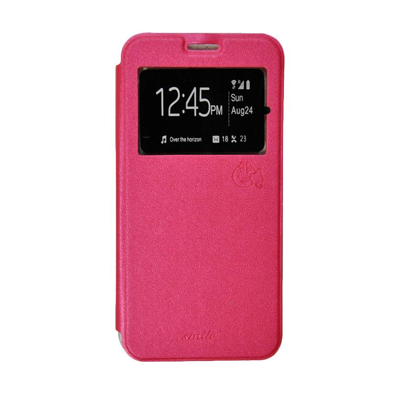 Smile Flip Cover Casing for Asus Zenfone Go mini ZC451TG - Hot Pink