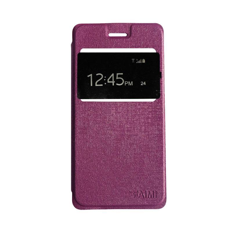 AIMI Flipshell Flipcase Flip Cover Casing for Oppo A57 - Purple